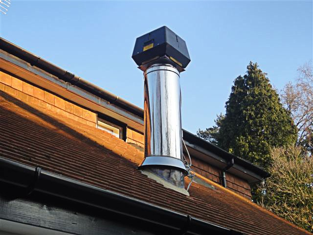 exodraft chimney fan on chimney